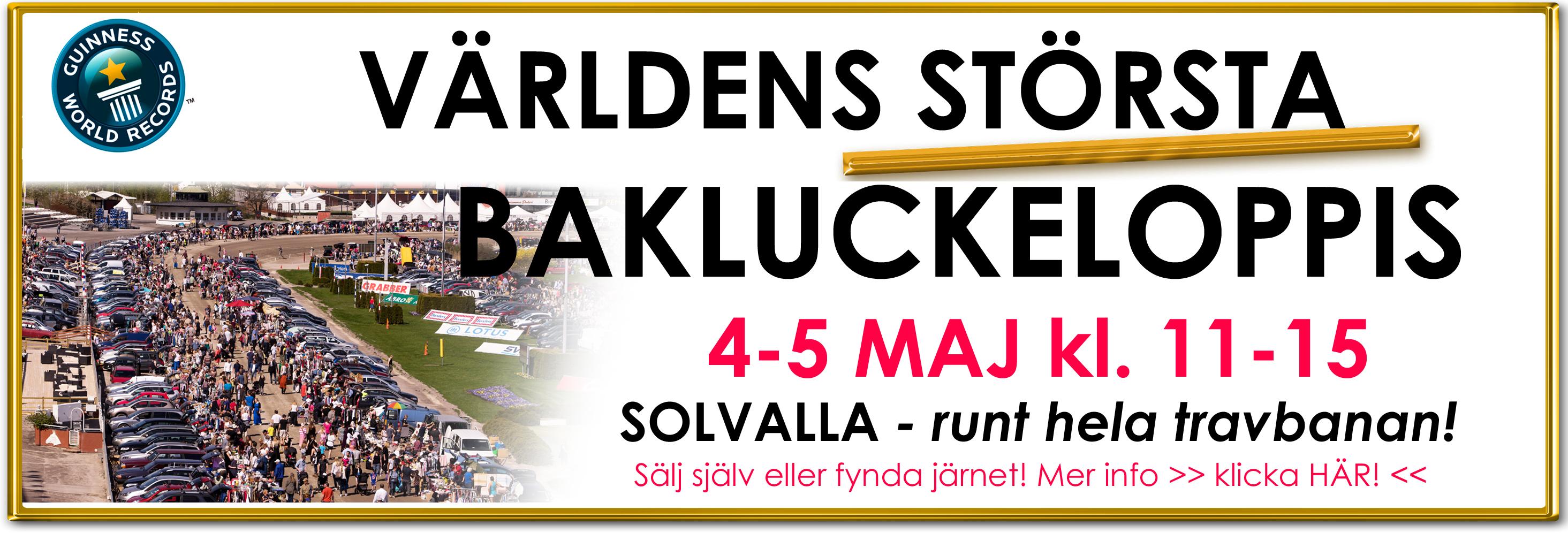 Bakluckeloppis På Solvalla Sälj Och Fynda På Västra Stockholms